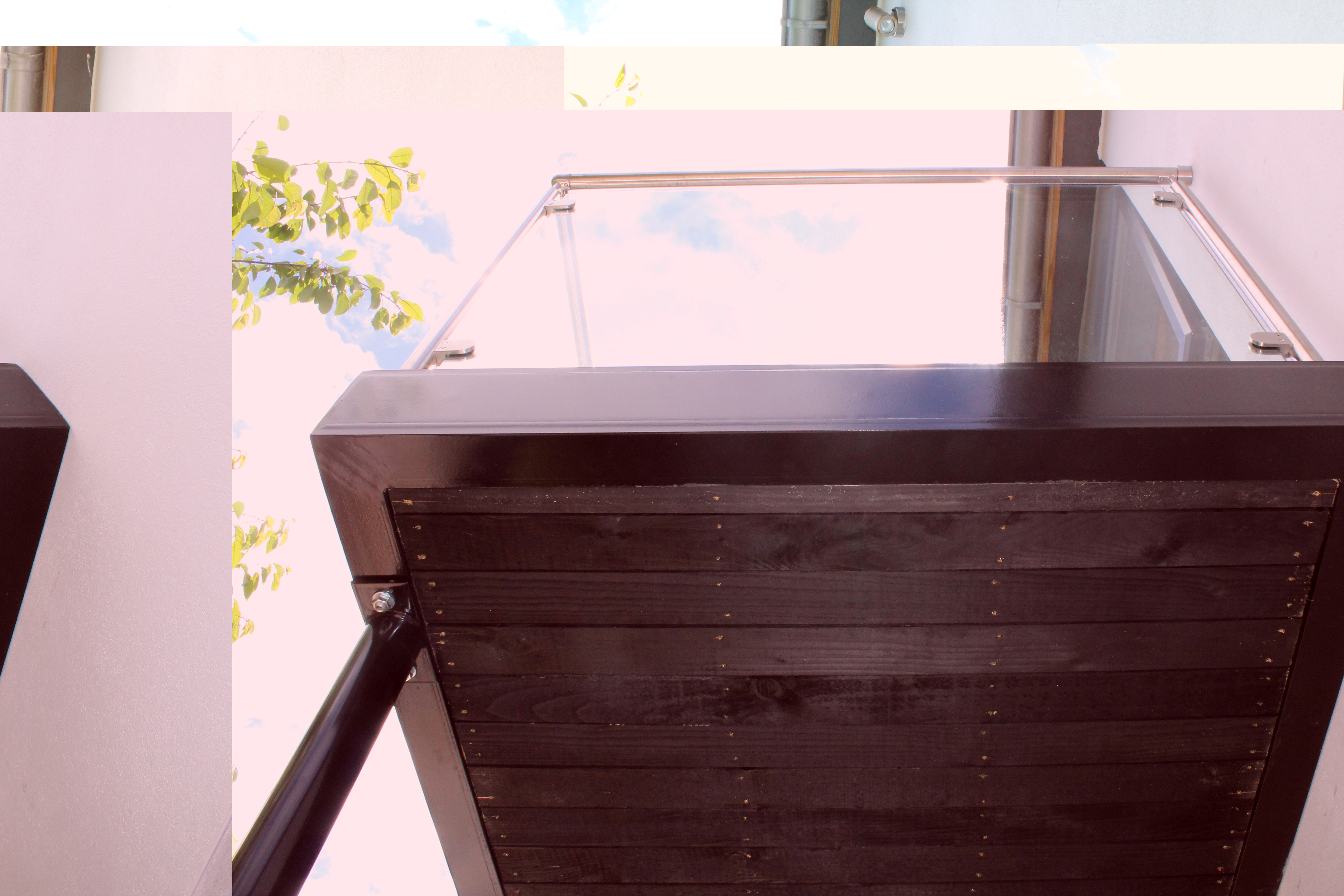 Glass Amp Steel Balcony Balustrade Amp Composite Decking